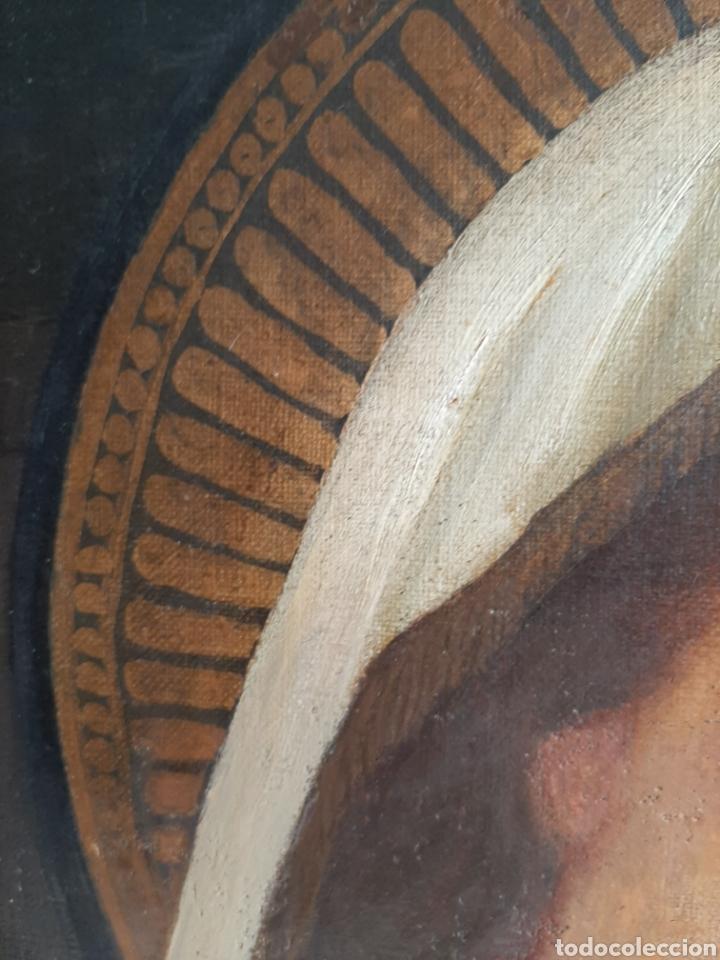 Arte: RETABLO DE MADERA CON EXCELENTE PINTURA AL ÓLEO SOBRE LIENZO - VIRGEN CON NIÑO - CAPILLA - S.XIX - Foto 9 - 231348950