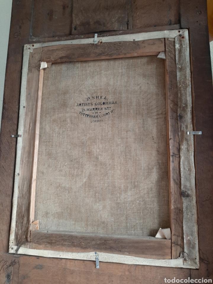 Arte: RETABLO DE MADERA CON EXCELENTE PINTURA AL ÓLEO SOBRE LIENZO - VIRGEN CON NIÑO - CAPILLA - S.XIX - Foto 31 - 231348950