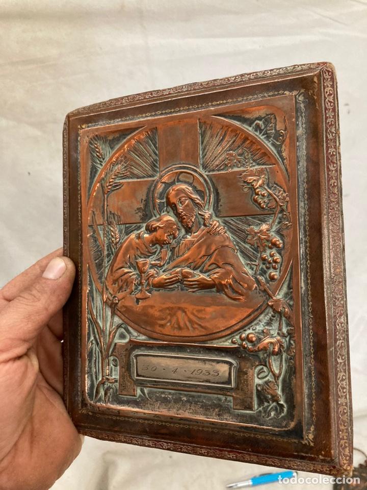 PRECIOSO ICONO ANTIGUO EN COBRE! (Arte - Arte Religioso - Iconos)