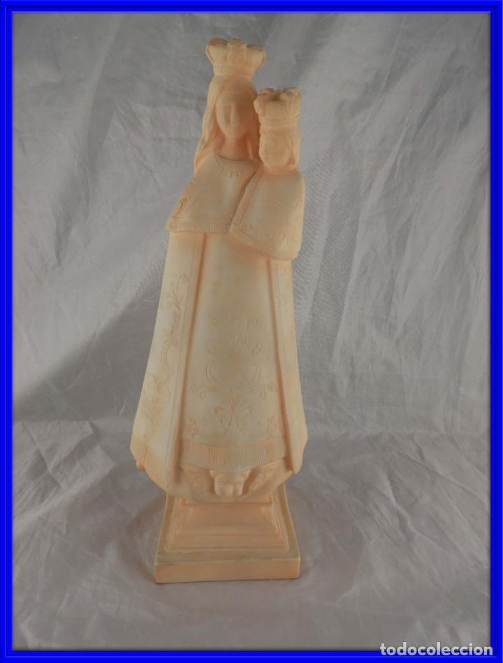 TALLA DE LA VIRGEN DEL CARMEN DE ALABASTRO (Arte - Arte Religioso - Escultura)