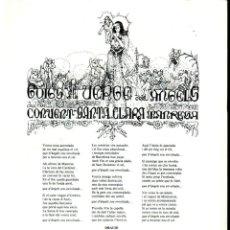 Arte: GOIGS A LA VERGE DELS ANGELS - CONVENT DE SANTA CLARA, MANRESA (IMP. GUINART, 1986). Lote 231816015