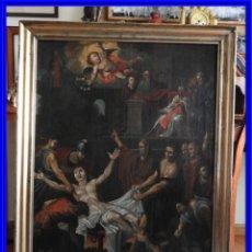 Arte: CUADRO ANTIGUO OLEO MARTIRIO DE SAN LORENZO ESCUELA ESPAÑOLA XVIII. Lote 231858800