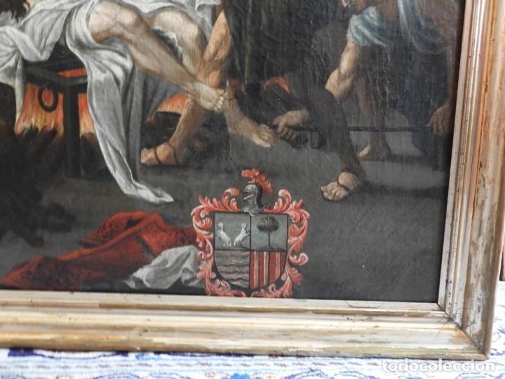Arte: CUADRO ANTIGUO OLEO MARTIRIO DE SAN LORENZO ESCUELA ESPAÑOLA XVIII - Foto 5 - 231858800