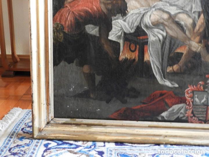 Arte: CUADRO ANTIGUO OLEO MARTIRIO DE SAN LORENZO ESCUELA ESPAÑOLA XVIII - Foto 6 - 231858800