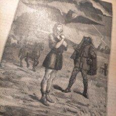 Arte: GRABADO RELIGIOSO 1890 - 1900 - VIDA DEL SANTO DIA SANTORAL - SAINT MEDARD SAN MEDARDO. Lote 231996325