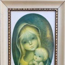 Arte: CUADRO RELIGIOSO VIRGEN MARIA Y NIÑO JESUS - DECORACION IGLESIA RELIGION DIOS. Lote 232018305