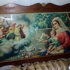 Arte: CUADRO RELIGIOSO, GRANDE, ANTIGUO.. Lote 232306955