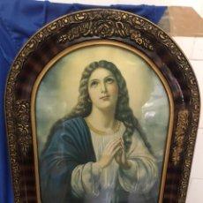 Arte: CUADRO DE LA VIRGEN REZANDO, AÑOS 40, MEDIDAS 39 X 49 CM.. Lote 232360550