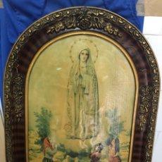 Arte: CUADRO DE LA VIRGEN DE FÁTIMA, AÑOS 40, MEDIDAS 39 X 49 CM. Lote 232361855