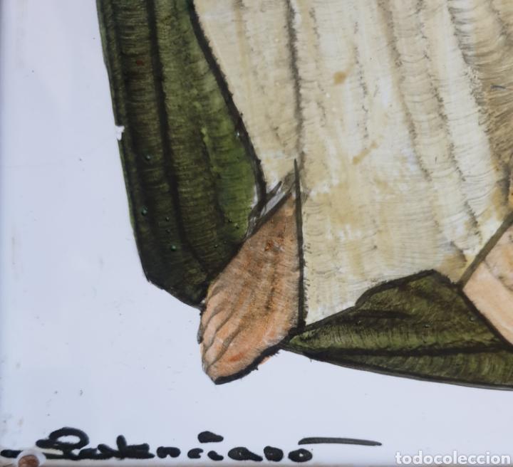 Arte: Pedro Palenciano Ruiz - Jesús Adolescente/San Juan?.Retablo Cerámico.Firmado. - Foto 3 - 232512360