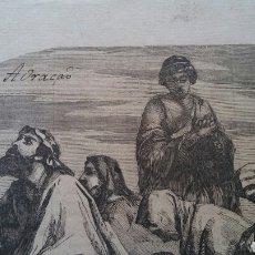 Arte: LAMINA ANTIGUA - ORACIÓN. Lote 232617250