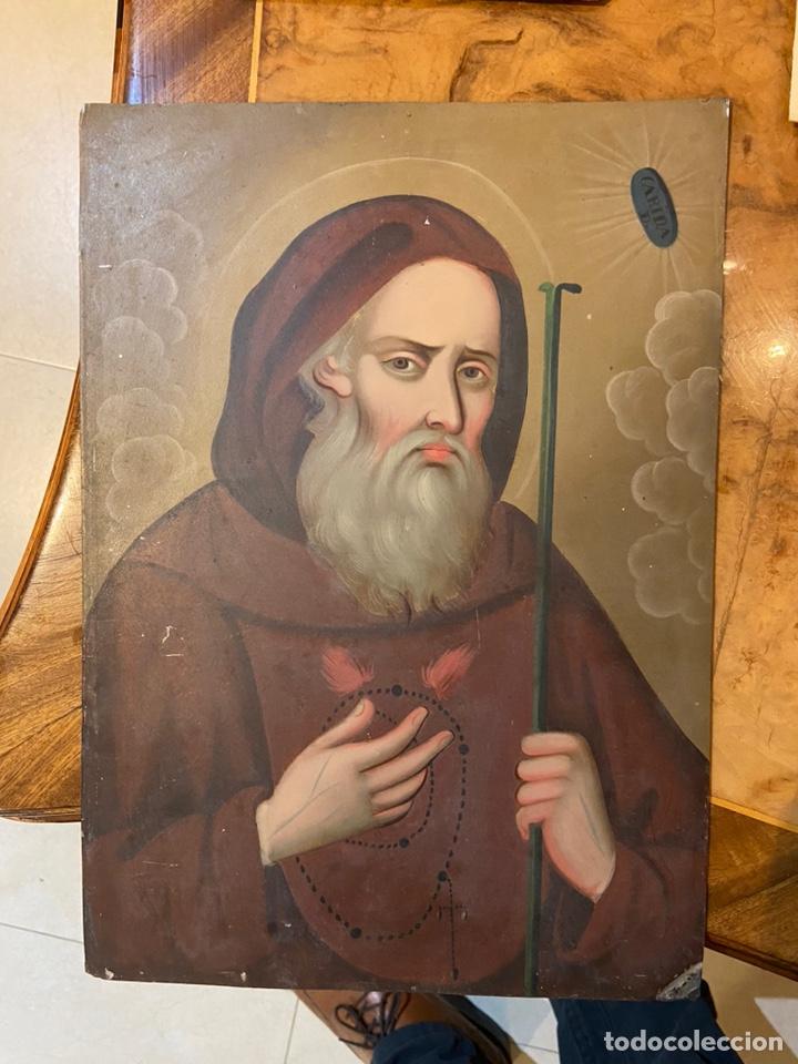 BONITO CHARITAS PINTADO SOBRE HOJALATA (Arte - Arte Religioso - Pintura Religiosa - Oleo)