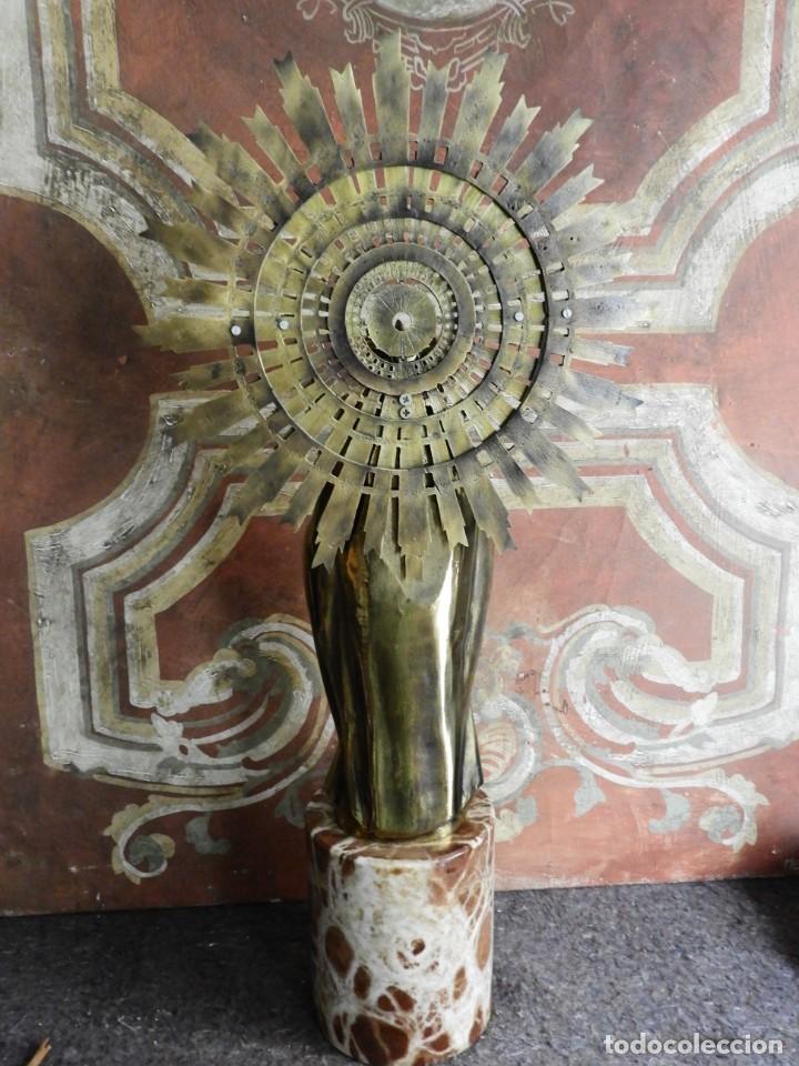 Arte: IMPORTANTE VIRGEN DEL PILAR SOBRE COLUMNA DE MARMOL. - Foto 6 - 232665100