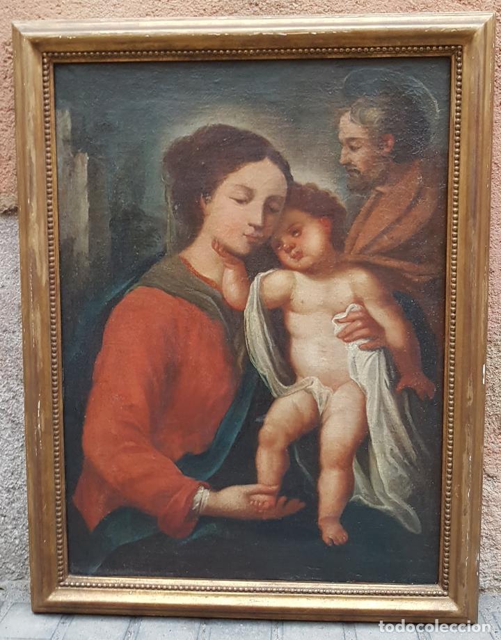 OLEO SOBRE TELA SAGRADA FAMILIA (Arte - Arte Religioso - Pintura Religiosa - Oleo)