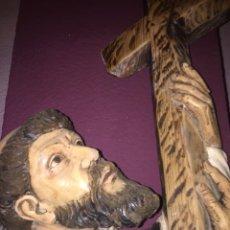 Arte: RELIEVE SAN ALVARO EN MADERA, BUEN TAMAÑO. Lote 232952790