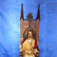 Arte: ESCULTURA SAGRADO CORAZÓN ENTRONIZADO EL ARTE CRISTIANO OLOT. Lote 233259855