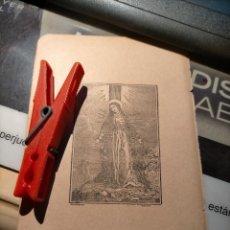 Arte: ANTIGUO GRABADO RELIGIOSO VIRGEN DE LOS DOLORES DOLOROSA 7 PUÑALES DOLORES 14,5 X 9,4 CM APROX.. Lote 233449430