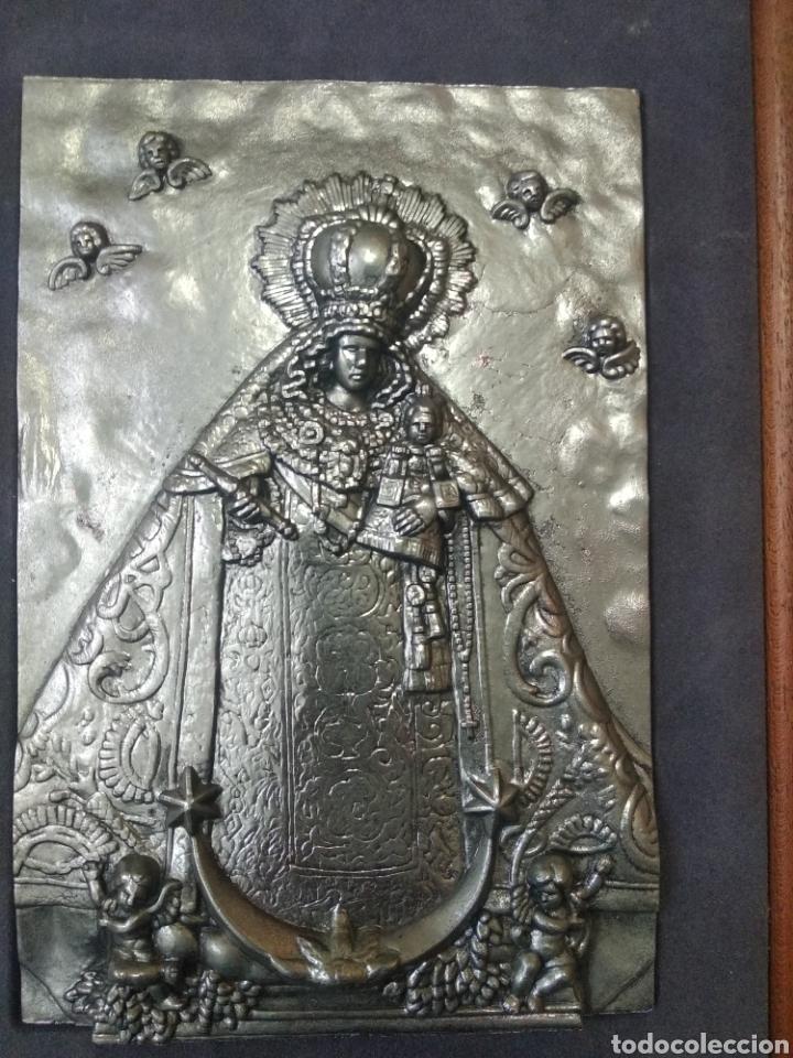 PRECIOSO CUADRO COBRE VIRGEN DE LA CARIDAD (Arte - Arte Religioso - Iconos)