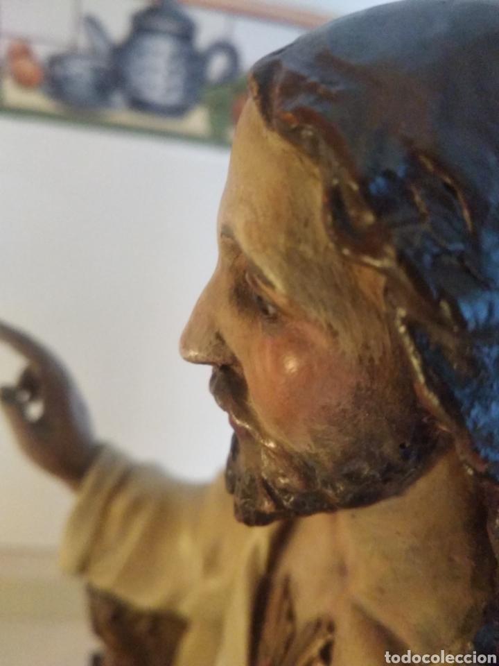 CRISTO DE OLOT ENTRONIZADO CONTRASTADO Y MARCADO MUY ANTIGUO (Arte - Arte Religioso - Escultura)