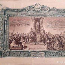 Arte: MARIALIVM SODALITATVM DIPLOMA. ACTO DE CONSAGRACIÓN A LA SANTÍSIMA VIRGEN MARÍA MADRE DE DIOS. Lote 233733940