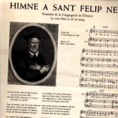 Arte: GOIGS HIMNE A SANT FELIP NERI - GRÀCIA (ALTÉS, 1978). Lote 233904095