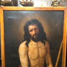 Arte: FINA PINTURA OLEO SOBRE LIENZO FIRMADO CRISTO ECCE HOMO - MEDIDA MARCO 101X80 CM - RELIGIOSO. Lote 234053915