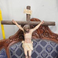 Arte: CRISTO EN LA CRUZ DE 76 CM ALTURA TOTAL. Lote 234341265