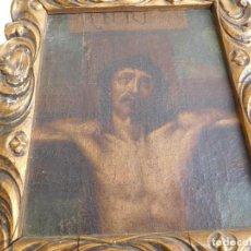 Arte: PINTURA AL OLEO ORIGINAL DEL SIGLO XVIII REPRESENTANDO JESUCRISTO CRUCIFICADO. Lote 234476240
