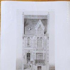 Arte: HOTEL A COLOMBES, SEINE. MR. LESIENE, ARCHITECTE, FACADE. 1896 82. Lote 234540560