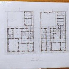 Arte: HOTEL DE G. AVENUE DE L'ALMA, A PARIS, PLANS. MR. E. SANSON, ARCHITECTE, 1897 77. Lote 234542030