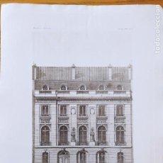 Arte: PROJET DE L'HOTEL DE G... AVENUE DE L'ALMA, A PARIS. FACADE. MR. E. SANSON, ARCHITECTE, 1897 76. Lote 234542605