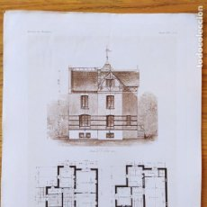 Art: COTTAGE DE MR. D. A ST. CLOUD. PLANS ET FACADE LATERALE. MR. RENE SERGENT, ARCHITECTE, 1897 67. Lote 234545400
