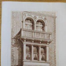 Arte: HOTEL DE M.S. 7 PLACE DES ETATS-UNIS, DETAIL DU BOW-WINDOW, MR. CH.GIRAULT, ARCHITECTE, 1896 25. Lote 234560745