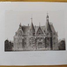 Arte: CHATEAU DE LA MOTTE-BELAIR (LOIRET), FACADE NORD, MR. LOUIS PARENT, ARCHITECTE, 1896 13. Lote 234563910
