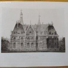 Arte: CHATEAU DE LA MOTTE-BELAIR (LOIRET), FACADE MERIDIONALE, MR. LOUIS PARENT, ARCHITECTE, 1896 12. Lote 234564185