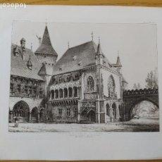 Arte: EXPOSITION MILLENAIRE DE BUDAPEST, BATIMENT GOTHIQUE, MR.ALPAR IGNATX, 1896 8. Lote 234565125