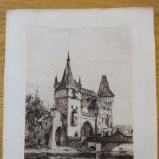 Arte: EXPOSITION MILLENAIRE DE BUDAPEST, PAVILLON GOTHIQUE, ENTREE PRINCIPALE MR.ALPAR IGNATX, 1896 1. Lote 234566425