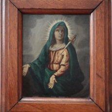 Arte: VIRGEN DE LOS DOLORES. ÓLEO SOBRE COBRE. ESCUELA ESPAÑOLA DEL SIGLO XVIII. MIDE 16 X 13 CM.. Lote 234765440