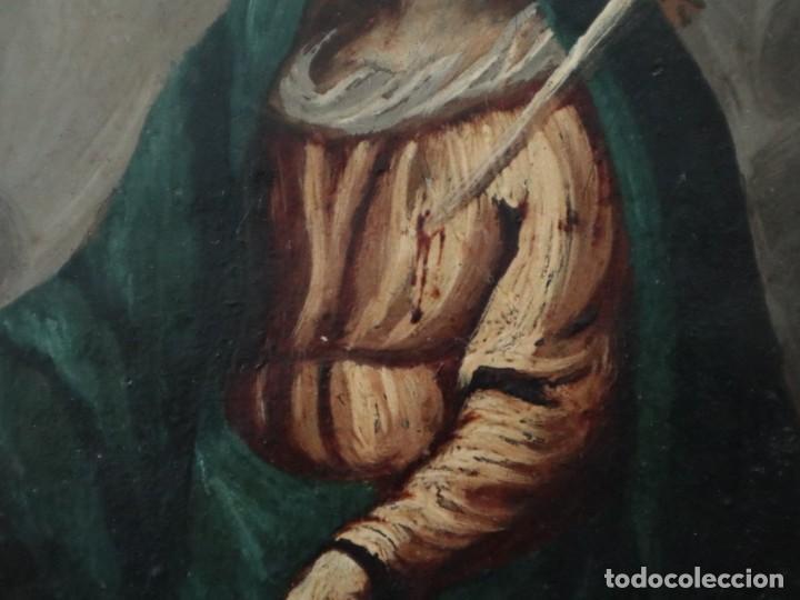 Arte: Virgen de los Dolores. Óleo sobre cobre. Escuela Española del siglo XVIII. Mide 16 x 13 cm. - Foto 6 - 234765440