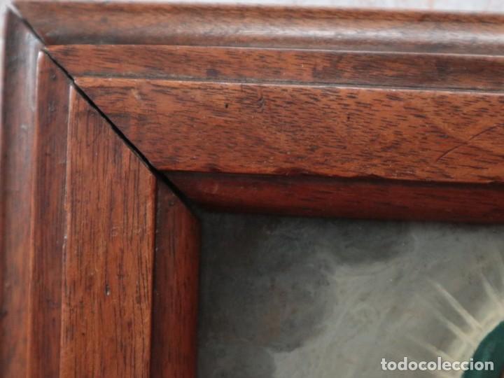 Arte: Virgen de los Dolores. Óleo sobre cobre. Escuela Española del siglo XVIII. Mide 16 x 13 cm. - Foto 11 - 234765440