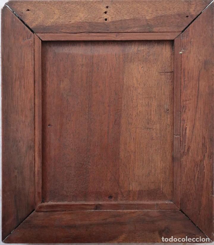 Arte: Virgen de los Dolores. Óleo sobre cobre. Escuela Española del siglo XVIII. Mide 16 x 13 cm. - Foto 13 - 234765440