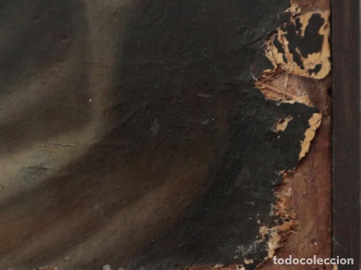 Arte: Retrato de la Virgen María. Escuela Española del siglo XVI. Óleo sobre tabla. Med: 34 x 27 cm. - Foto 13 - 48221032