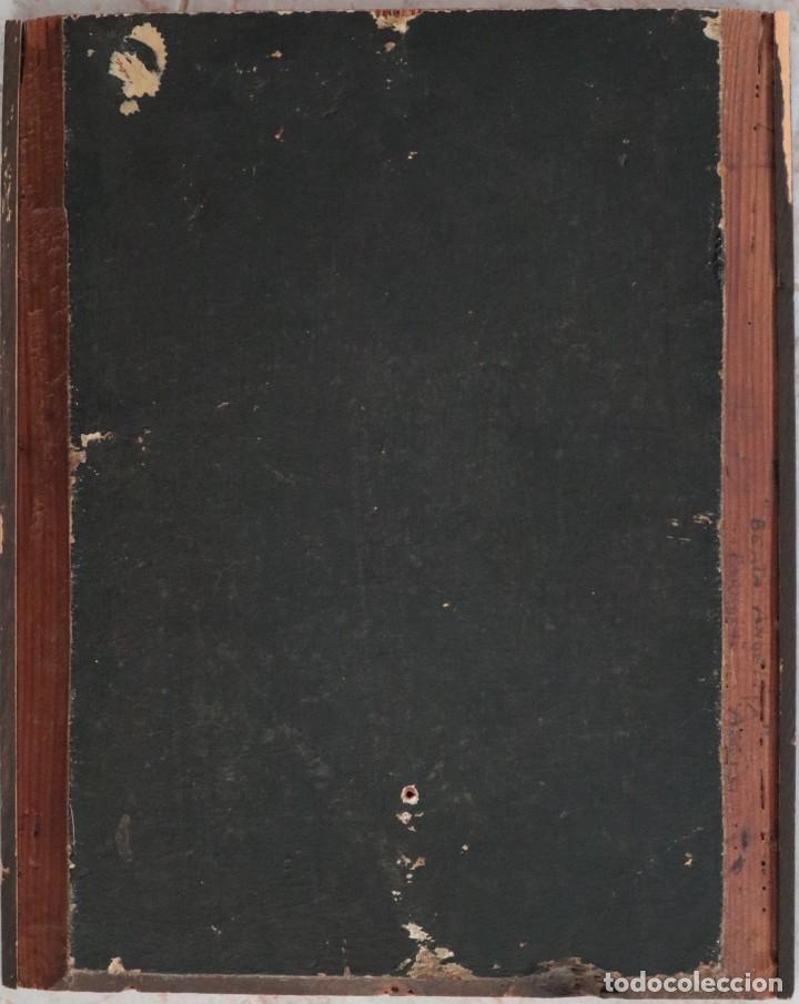 Arte: Retrato de la Virgen María. Escuela Española del siglo XVI. Óleo sobre tabla. Med: 34 x 27 cm. - Foto 14 - 48221032