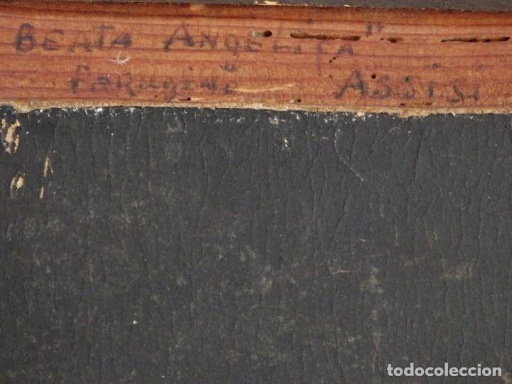 Arte: Retrato de la Virgen María. Escuela Española del siglo XVI. Óleo sobre tabla. Med: 34 x 27 cm. - Foto 16 - 48221032
