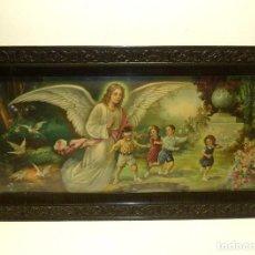 Arte: SAGRADO CORAZÓN DE JESÚS EN RELIEVE DE ESCAYOLA.41 X 23 X 6 CM.. Lote 234783500