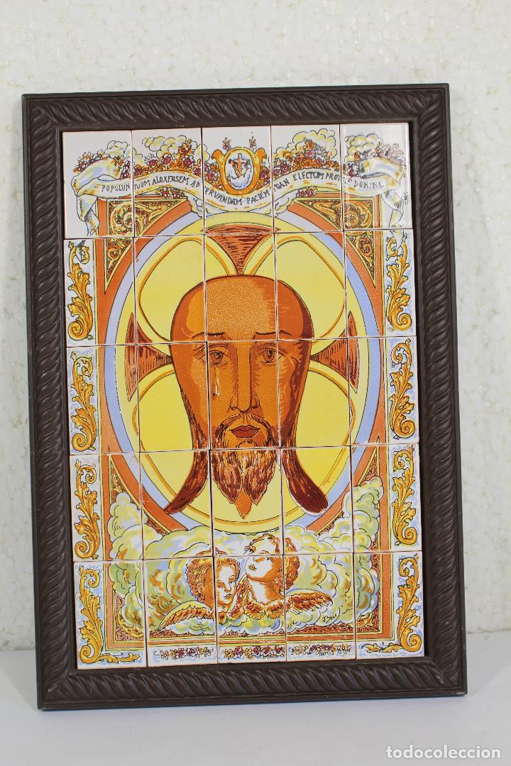 Arte: santa faz cuadro mosaico de 25 azulejos - Foto 2 - 268860739