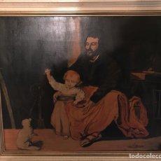 Arte: IMPRESIONANTE CUADRO DE ÓLEO SOBRE TABLA , FIRMADO Y DATADO 1962, 66X 56 CM. .. Lote 234805895
