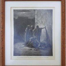 Arte: LOS COMPAÑEROS DE JEHÚ ENCUENTRAN LA CABEZA Y LOS MIEMBROS DE JEZABEL. GRABADO DE DORÉ. Lote 234816660