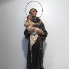 Arte: BONITO SAN ANTONIO DE PADUA DE ESTUCO ANTIGUO, LA TERESITA VICH. 44CM.. Lote 234838575