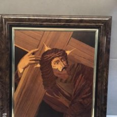 Arte: CUADRO EN MARQUETERÍA (IMAGEN DE CRISTO). Lote 234851835